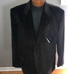 NWT Adolfo brown cotton jacket size 48r